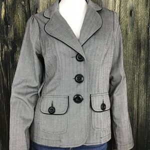Maurice's Gray and Black Pattern Blazer Sz Medium