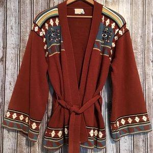 Vintage Bohemian Bell Sleeved Cardigan