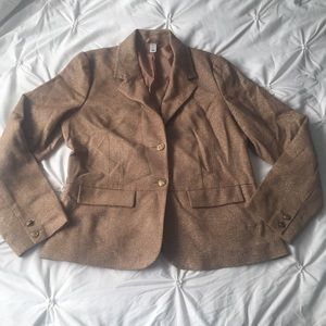 Old Navy Tan Gold Shimmer Button Blazer Jacket