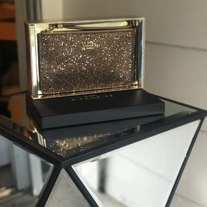 Coach Gold Sparkly Wristlet in gift box NWT