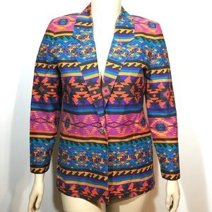 Diamond L Western Wear Aztec Indian Blazer Medium