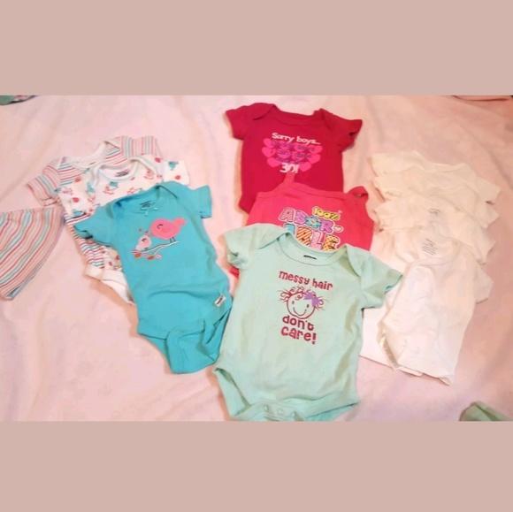 c6d57b6b13247 Gerber One Pieces | 11 Piece Lot Newborn 03 Infant Summer Baby Girls ...