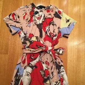 "Marx Jacobs ""scream queen"" t-shirt dress with tie"
