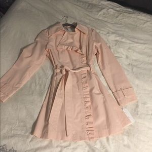 NWT pretty pink trench coat