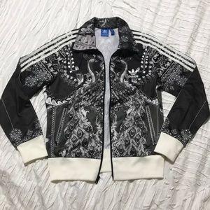 NWOT Adidas paisley track jacket M