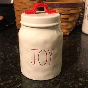 Rae Dunn Joy Christmas Canister