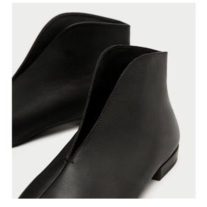Brand New Zara Flat Ankle Boots