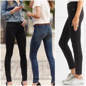 Madewell Jeans High Riser Skinny Black Women's 29