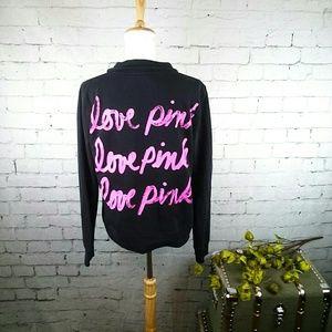 GUC VS Pink logo quarter zip sweatshirt