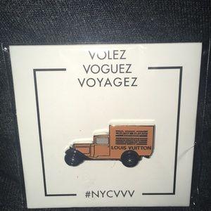 Brand new Louis Vuitton clothing pin