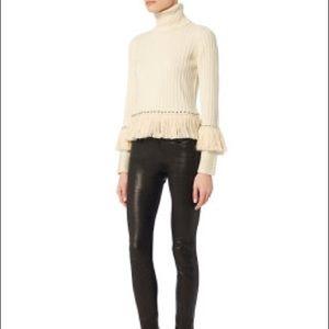Jonathan Simkhai Studded & Fringed Sweater