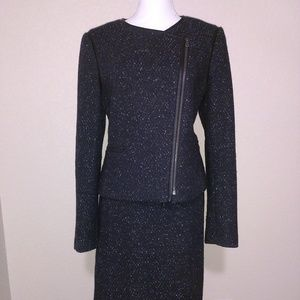 Ann Taylor Navy Blue and Black Suit