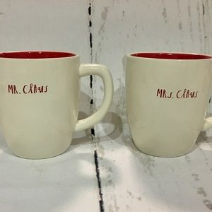 Rae Dunn Mr And Mrs Claus Christmas Mugs