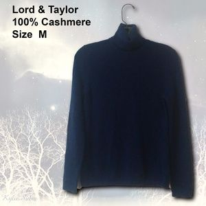 LORD & TAYLOR - 100% Cashmere Sweater - Size M