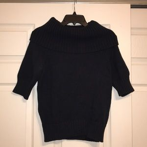 Magaschoni Turtleneck Short Sleeve Sweater