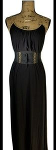Boston Proper Black & Gold Dress Small