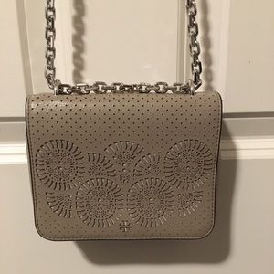 Tan/Sand Tory Burch Crossbody with Metal Chain