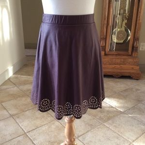 Stoosh faux leather perforated skirt. Sz. Small🌹
