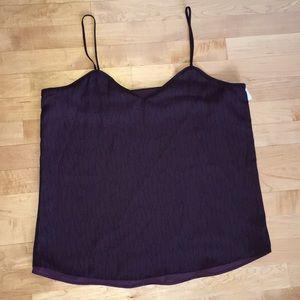 NWOT Valette deep purple and black cami
