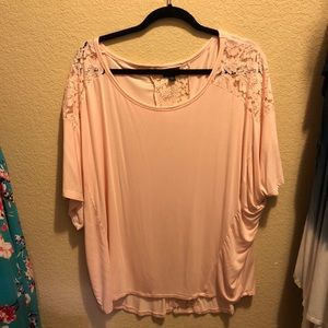 Blush Floral Laced Top XXL