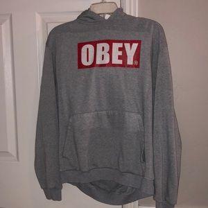 Grey Obey Hoodie
