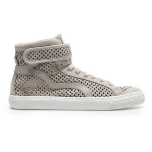 Zara Perforated Leather High-Top Sneakers