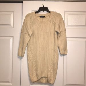 Magaschoni Cream Wool Cashmere Tunic Sweater