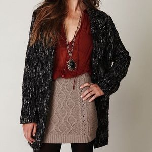 Free People Cable Knit Mini Skirt