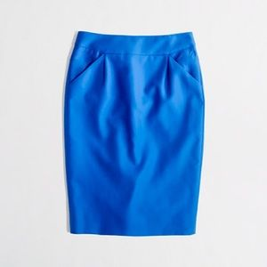 J Crew Bright Blue The Pencil Skirt