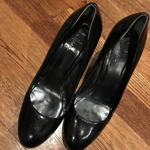 Cole Haan Patent black leather almond toe 8.5