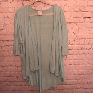 Lularoe Lindsay Small heathered mint