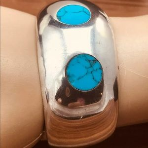 50 Grams Sterling Turquoise Cuff Bracele