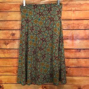 LuLaRoe Azure Skirt Multicolored Geometric Print