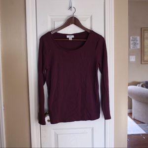 *3 for $18* Ann Taylor LOFT long sleeve top