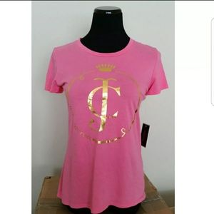 NWT Juicy Couture Metallic Graphic Tee