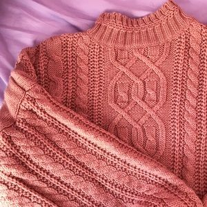 Oversized cableknit sweater
