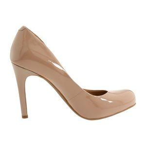 Jessica Simpson Calie Heels in Nude Patent