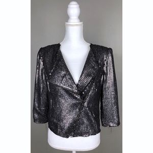 NWT EXPRESS Sequin Motorcycle Evening Jacket