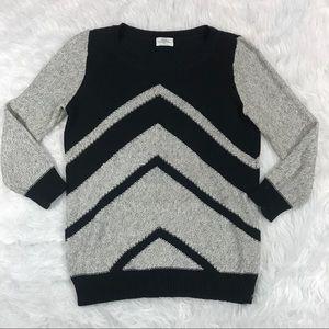 Madewell Wallace Patternplay Sweater Chevron