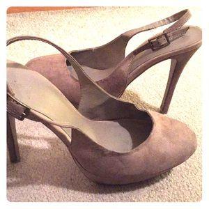 Forever 21 sling back platform heels