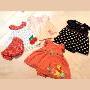 Girls 3-6 Months Dress Lot VGUC Disney Carter's
