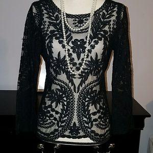 Express sheer lace top
