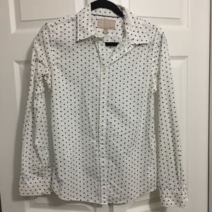 White Banana Republic long sleeve button down