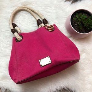 MICHAEL KORS Raspberry Pink Marina Grab Bag Tote