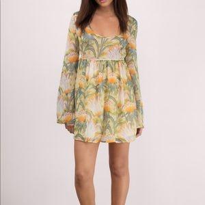 Tobi cream floral print day dress