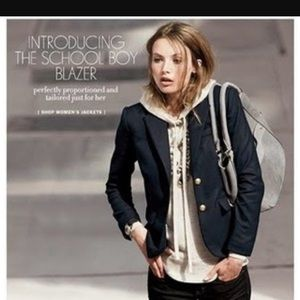 J Crew Schoolboy Blazer - Black