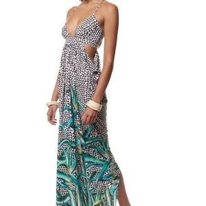 MARA HOFFMAN Aloe Cut Out Maxi Dress!! S