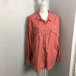Old Navy Pink Chambray Button down