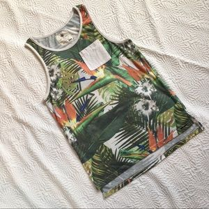 PacSun On the Byas Size Small Tank Top Tropical