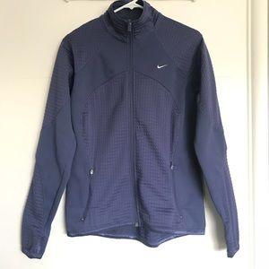 Nike Therma Fit Purple Full Zip Jacket Thumbholes